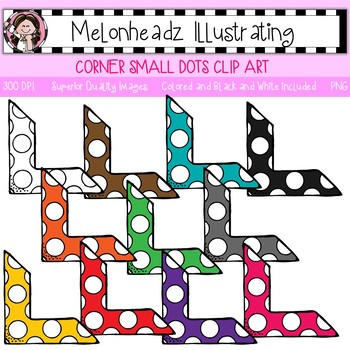 Melonheadz: Corner clip art - Small with Dots - Single Image