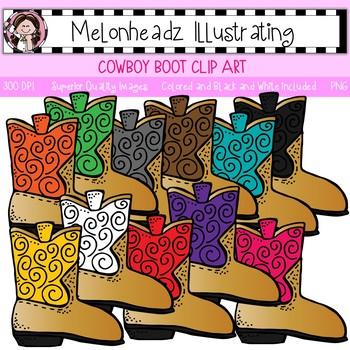 Melonheadz: Cowboy Boot clip art - Single Image