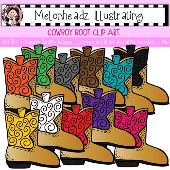 Melonheadz: Cowboy Boot clip art - Single Image