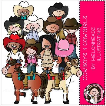 Melonheadz: Cowboy and Cowgirl clip art