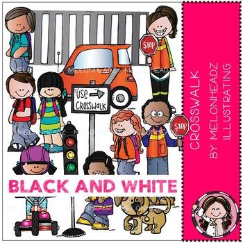 Melonheadz: Crosswalk clip art - BLACK AND WHITE