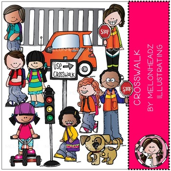 Crosswalk clip art - Combo Pack - by Melonheadz