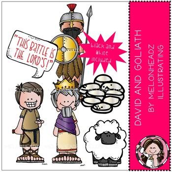 Melonheadz: David and Goliath clip art Mini - Bible