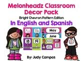 Melonheadz Decor Bright Colored Chevron Edition *In English and Spanish*