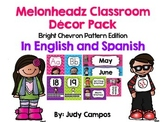 Melonheadz Decor Bright Colored Chevron Edition *In English and Spanish*