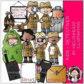 Detectives clip art - Kids - Combo Pack - by Melonheadz