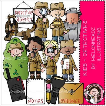 Melonheadz: Detectives clip art - Kids - Combo Pack