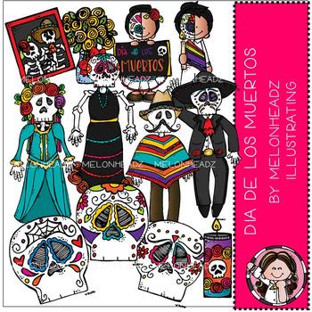 Melonheadz: Dia de los Muertos clip art - COMBO PACK