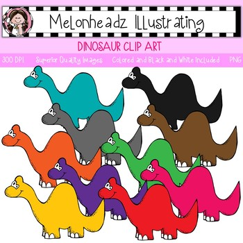 Melonheadz: Dinosaur clip art - Single Image