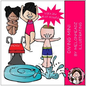 Melonheadz: Diving clip art Mini Set