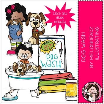Melonheadz: Dog Wash clip art - Mini