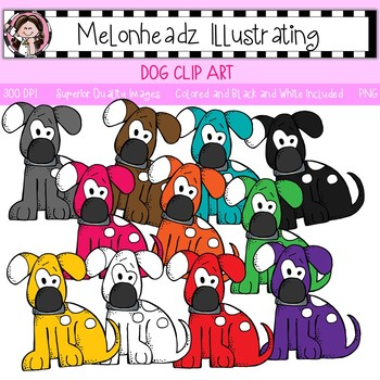 Melonheadz: Dog clip art - Single Image