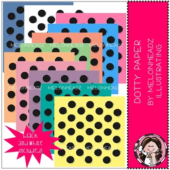 Dotty Paper - digital paper - by Melonheadz