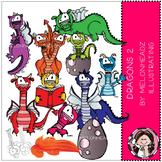 Dragon clip art - set 2 - COMBO PACK - by Melonheadz