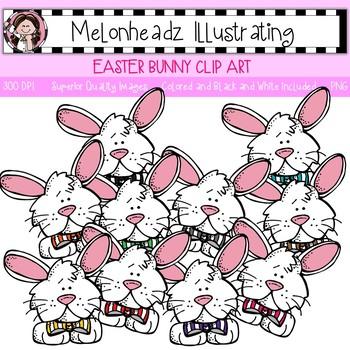 Melonheadz: Easter Bunny clip art - Single Image