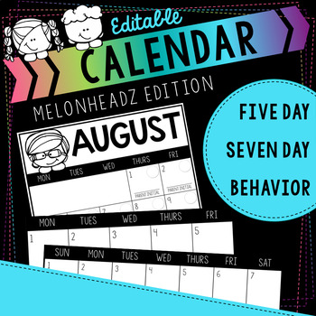 Melonheadz Editable Calendar FOR LIFE