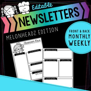 Melonheadz Editable Double Sided Newsletters