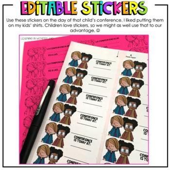 Parent Teacher Conference Reminder | Scheduling Sheet | Reminder Stickers