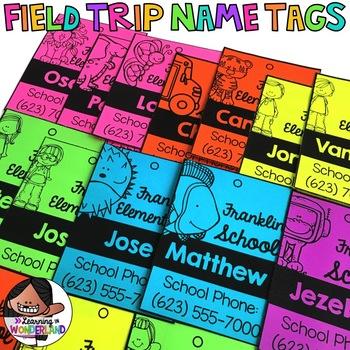 Field Trip (Editable Name Tags)