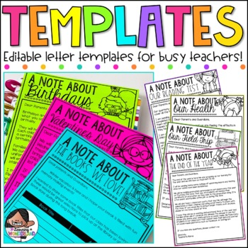 {Kidlettes Edition} Editable Letter Templates