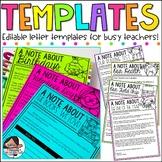 {Kidlettes Edition} Editable Letter Templates