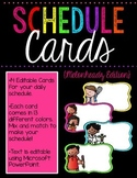 Editable Schedule (Brights Kidlettes Edition)