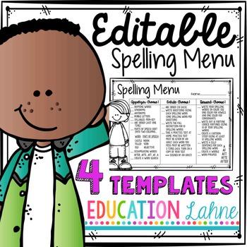 Melonheadz Edition Editable Spelling Menu