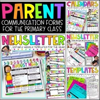 Parent Communication Bundle | Editable Forms