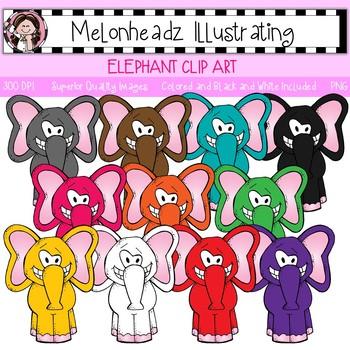 Melonheadz: Elephant clip art - Single Image