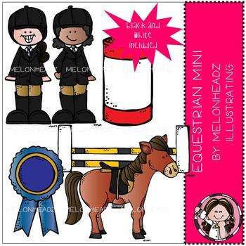 Melonheadz: Equestrian clip art Mini Set