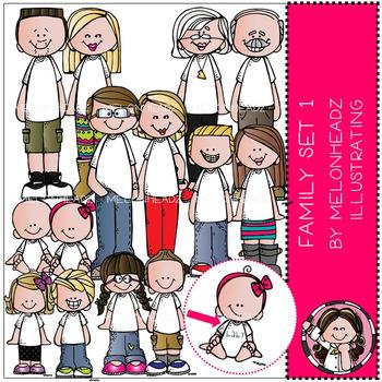 Melonheadz: Family clip art Set 1
