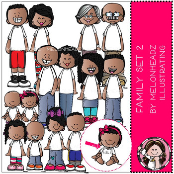 Melonheadz: Family clip art Set 2 - COMBO PACK