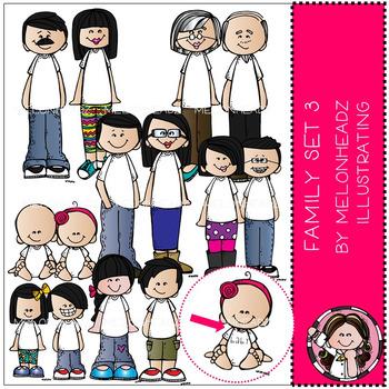 Melonheadz:  Family clip art Set 3