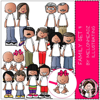 Melonheadz: Family clip art Set 4 - COMBO PACK