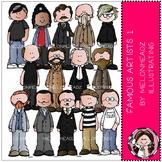 Famous Artists clip art - Set 1 - by Melonheadz