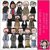 Famous Artists clip art - set 1 - COMBO PACK - by Melonheadz