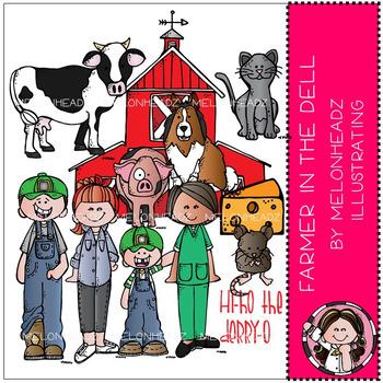 Melonheadz: Farmer in the Dell clip art 2016 - COMBO PACK