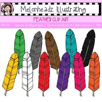 Melonheadz: Feather clip art - Single Image