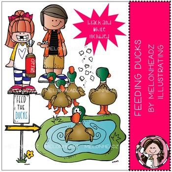Melonheadz: Feeding Ducks clip art - Mini
