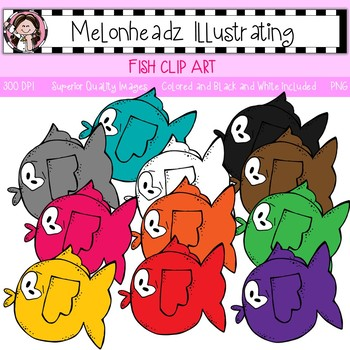 Melonheadz: Fish clip art - Single Image