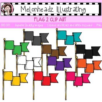 Flag clip art 2 - Single Image - by Melonheadz