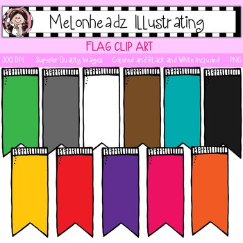 Flag clip art - Single Image - by Melonheadz