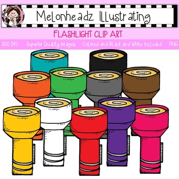 Melonheadz: Flashlight clip art - Single Image