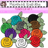 Flower clip art 3 - Single Image - by Melonheadz