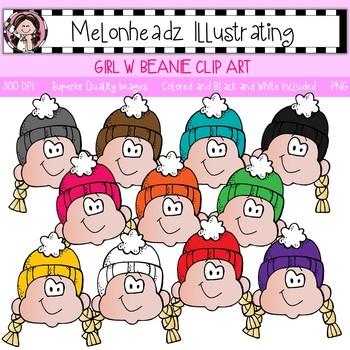 Melonheadz: Girl with Beanie clip art - Single Image