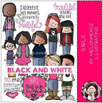 Melonheadz: Girls BLACK AND WHITE