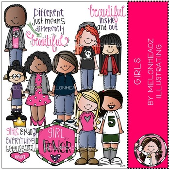 Girls clip art - COMBO PACK - by Melonheadz
