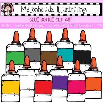 Melonheadz: Glue Bottle clip art - Single Image