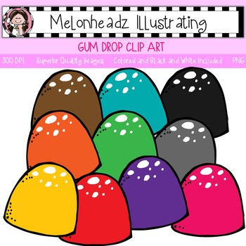 Melonheadz: Gum Drop clip art - Single Image