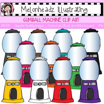 Melonheadz: Gum Machine clip art - Single Image